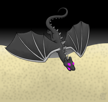 Ender Dragon by AnScathMarcach