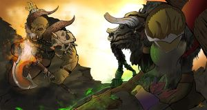 Bloodhoof Vs Hellscream by CoreyBrown