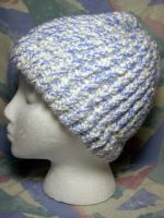 Blue 'n White Blizzard Hat by SmilingMoonCreations