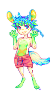 Commission Pixel Doll: Himmel by lanternlovers