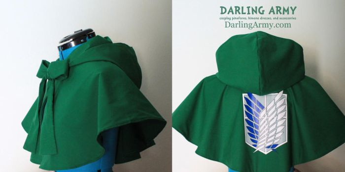 Attack on Titan Hooded Cosplay Capelet by DarlingArmy