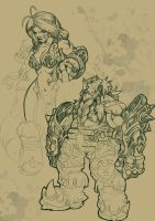 Concepts of two Dwarfs by DOUGLASDRACO