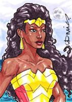 Wonder Woman Nubia ACEO by micQuestion