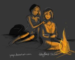 By the fire by Yunyin