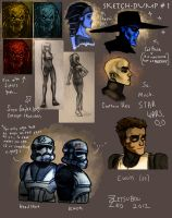 Star Wars Sketchdump 1 by ZetsubouZed