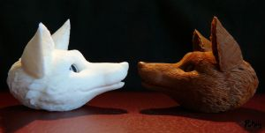 W.I.P: Firefox and snowfox BJD - Seraphim and Neva by PuppitProductions
