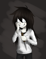 Jeff The Killer but he look like a girl by NekoXemi
