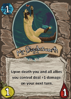 Mr. Bigglesworth Card by Mongrelistic