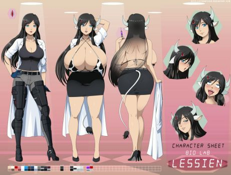 Lessien character sheet by StormFedeR