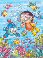 stong and tofi under the sea by Stongers