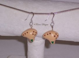 SterlingSilverHooks Fairy Ocarina Earrings Zelda by TorresDesigns