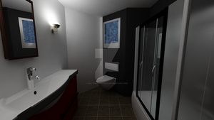 Beachhouse Bathroom by MattShadowwing