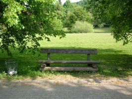 Wooden Park Bench 01 by Lengels-Stock