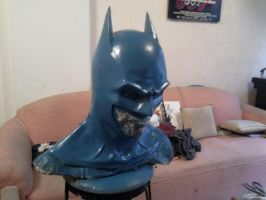 batman cowl sculpt 2 by Kryptoniano