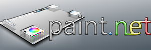Paint.NET 3D banner by deviously-buzzkilled