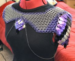 Purple Chain and Scale Mantle - Front View by SerenFey