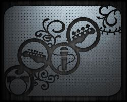 Band Wallpaper Metalico by Pompelina