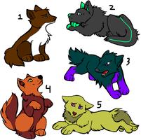 adoptable pups OPEN by StrawberryDethMetal