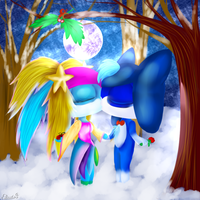 CG(2013): Mistletoe and moon by lifegiving