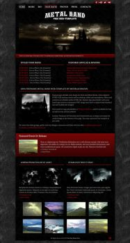 Metal Band Web-Template 026 by modblackmoon