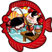 Chinese Kids Fishing by Witchking00
