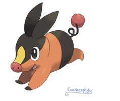 Tepig by Evomanaphy