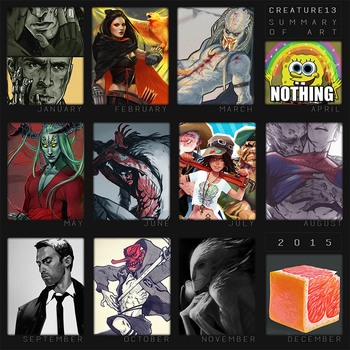 Summary of art 2015 by Creature13