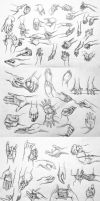 Hand Pose References by LornaKelleherArt