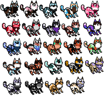 Huge kittens batch [20 points each OPEN] by PAKALUADOPTABLES