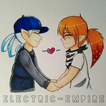 Commission: Atlas and Rin by Electric-Empire