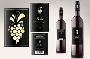 Wine Label by loreelamia