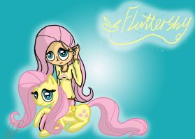 Mlp and Mlh - Fluttershy by monakaliza