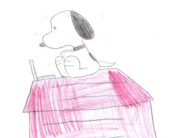 Snoopy with a Laptop by SuperMarcosLucky96