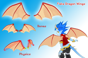 Fake Dragon Wings by MMDFakewings18