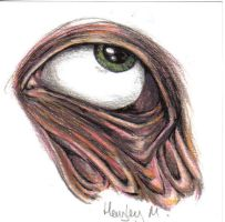 Melting eye study in colour by hayleybaileys