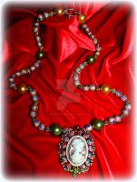 Victorian Spring Cameo Necklace by LadyAriessTemptra