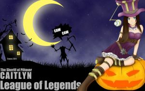 Caitlyn - HALLOWEEN wallpaper by tonnelee