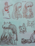 School random doodles by Krystalkate-the-wolf