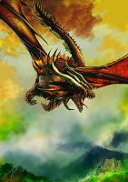 Drie Horner Dragon by UTTOTOR