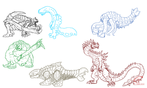 New(ish) Kaiju Concepts by Vagrant-Verse