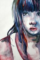 watercolor self portrait 2 by smile-sun-raiyne