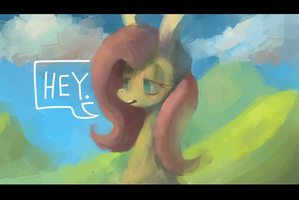 hey yellow horse by BerryDrops