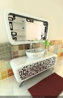 Retro bathroom design by anna1984
