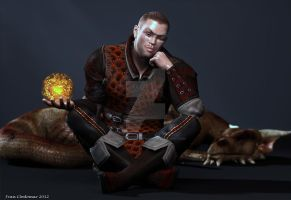 Reflection: A Ranger and his Dragon by Shango-ThunderStones