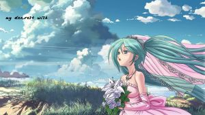 Hatsune Miku my dearest wish by Asukatze