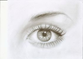 Eye - Practice Drawing by ChristianCowgirl116