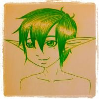 Green Forest Elf by MrsMiroku