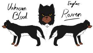 Unknown Blood - Raven Reference by fluffylovey