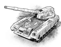 TRO 3063 Pershing Tank by StephenHuda