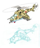 Mi-24 Hind by Sanity-X